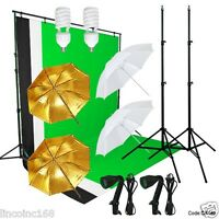 Linco Studio Lighting and Background Muslin Backdrops Photography Studio Kit