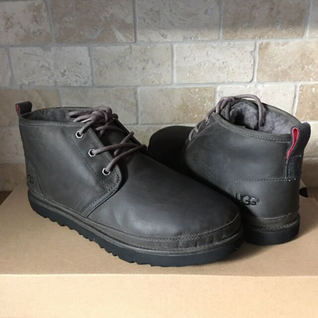 888b15585 UGG Neumel Charcoal Grey Waterproof Leather Chukka Ankle Boots Size US 11  Mens