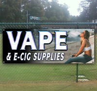 Vape And E Cig Supplies Advertising Vinyl Banner Flag Sign Many Sizes Available
