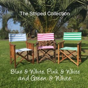 Brilliant Details About Director Chair Replacement Covers New Striped White With Blue Green Or Pink Pdpeps Interior Chair Design Pdpepsorg