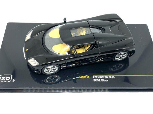 1:43 Escala Ixo Koenigsegg CC8S Coche Deportivo 2002 Diecast Modelo Coleccionable Coche