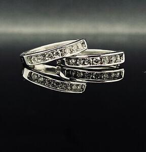 14K-White-Gold-0-50ctw-G-VS2-Round-Cut-Natural-Diamond-Earrings