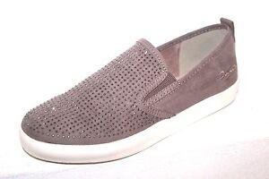 DOCKERS-Femme-Baskets-Sneaker-Slip-on-Basses-Glissement-Chaussures-Beige-Paillettes