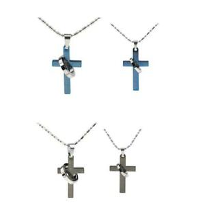 Punk-316L-Stainless-Steel-Cross-Couples-Pendant-Necklace-Bible-Lords-Prayer