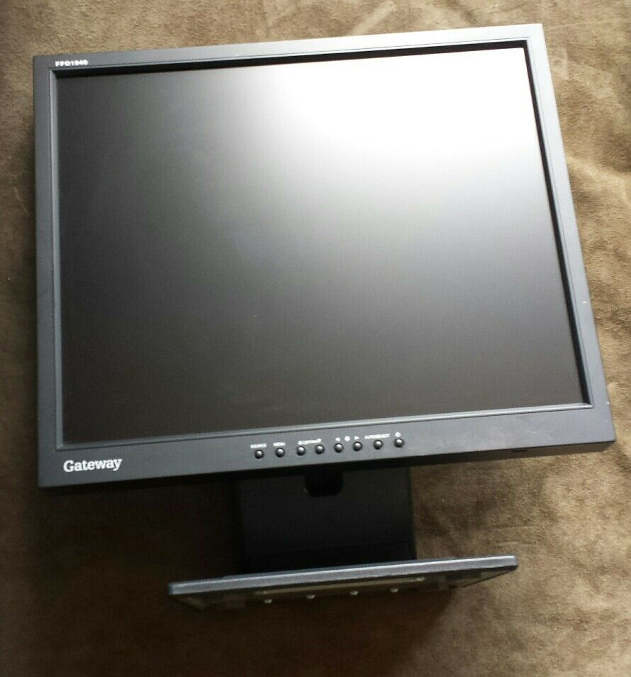 "8"" Gateway FPD840 DVI 8p LCD Monitor (black)"