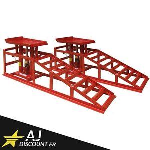2x-Rampe-de-levage-hydraulique-2-Tonnes-Verin-Jack-2T-Pont-leve-voiture