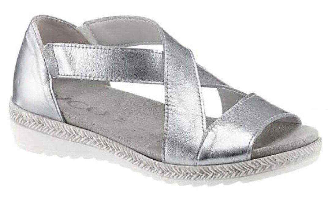 ACO Damens's Silver Open Toe Toe Open Sandales Eu Größe 41 d805fe