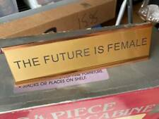 The Future Is Female Office Desk Plate