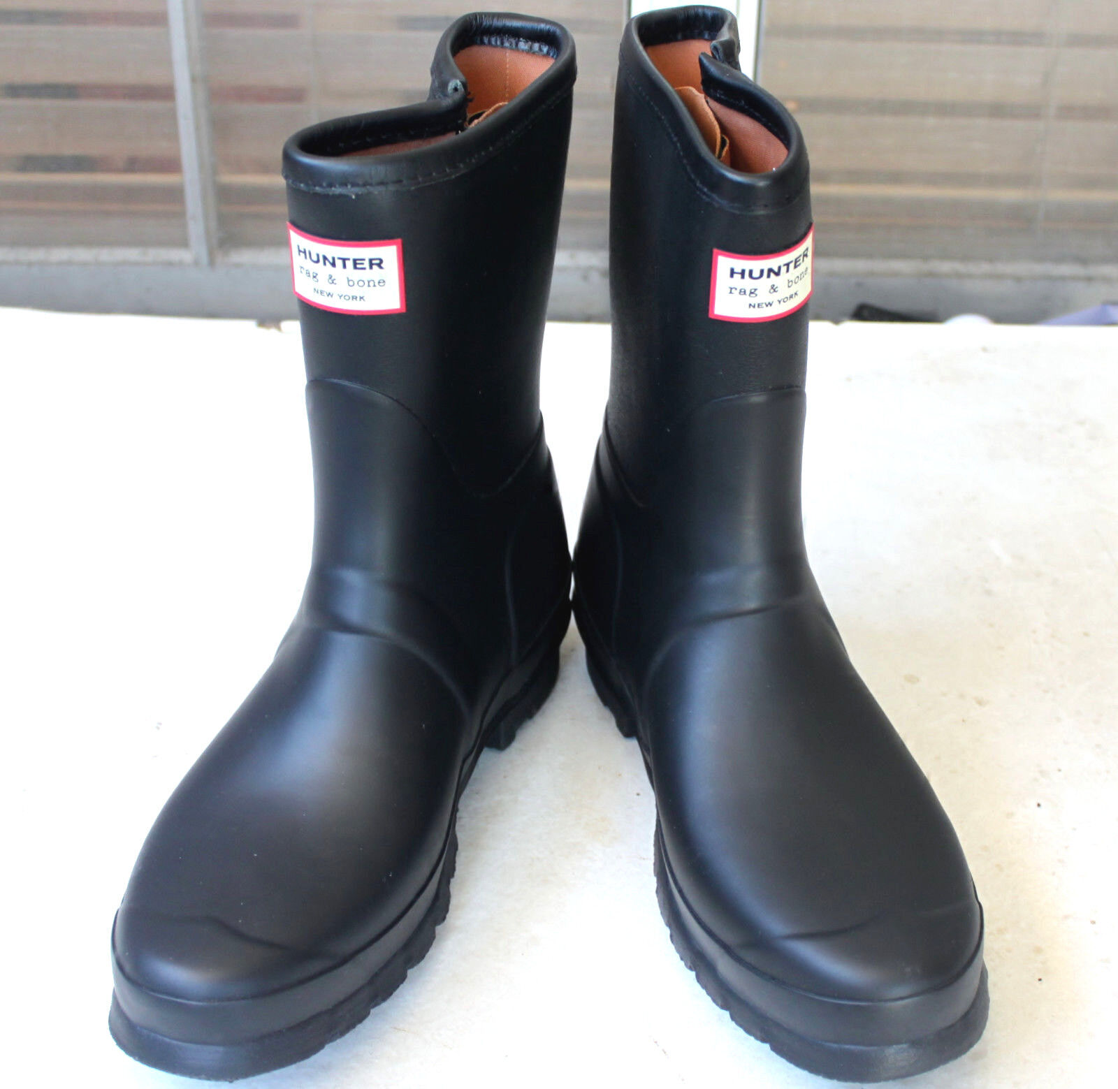 Rare Hunter Limited Rag & Bone Black Low Zipper Rain Rain Rain Boots US7 EU38 Gummistiefel 864916