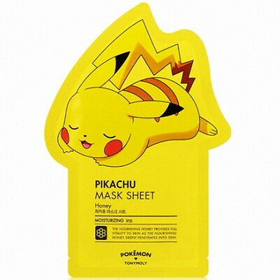[Tony Moly] Pokemon Pikachu Ver. Facial Masks Sheet Pack Korean Skin Care 1ea_01