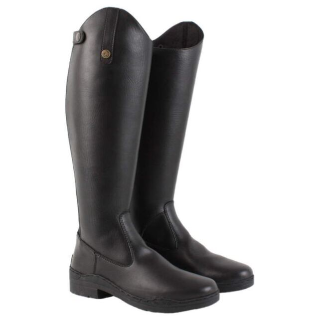 38 Brogini Modena Synthetic Long Riding Boots Black Boots Black Adult Wide