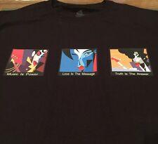 PRINCE COACHELLA Festival T-Shirt Paisley Park PURPLE RAIN Movie Jazz Concert M