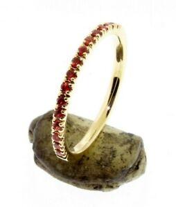 Half-Eternity-Orange-Sapphire-Wedding-band-or-stacking-rings-Comfort-fit-14-K
