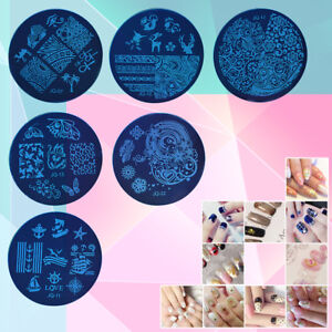 1x-Nail-Art-Pochoir-Stamping-Template-Plaque-Ongle-Image-Stamp-DIY-Decor-Mode-NF