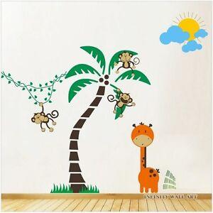 Amis Animaux Jungle Safari Nursery Mega Pack Wall Decals, Autocollants Muraux --.d402-afficher Le Titre D'origine