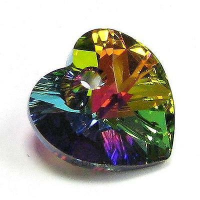 Swarovski Crystal 6228 Heart AB Xilion Pendant Element Many Color / Size ~ #1