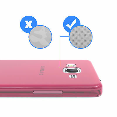 Ultra Slim Cover für Galaxy Grand Prime Case Silikon Hülle Transparent Pink