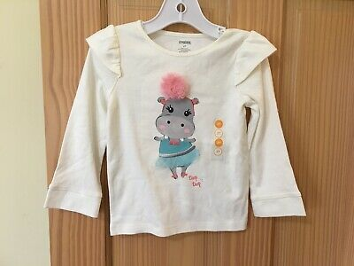 NWT Gymboree Mouse Tee Shirt Top Toddler Girls Long Sleeve Salmon Outlet