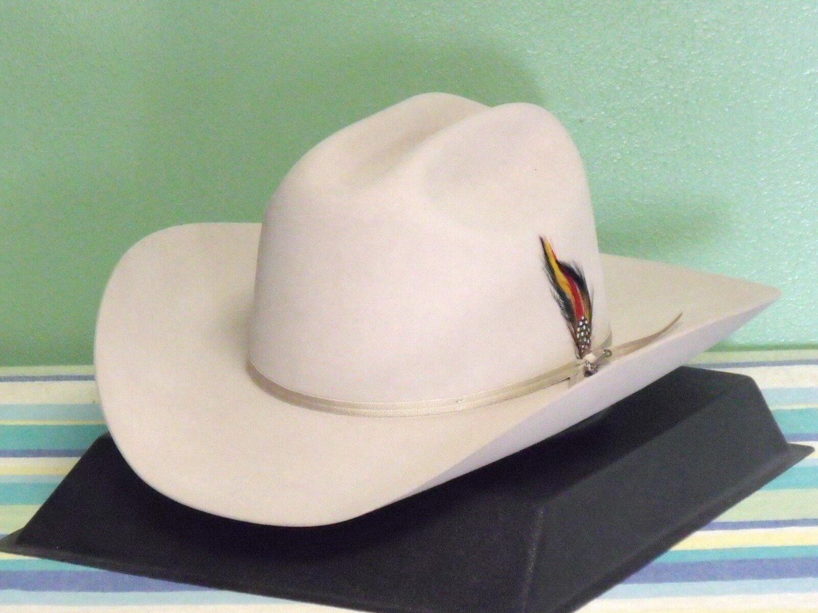 Stetson Roper 4x Beaver Fur Felt Hat Black Size 7 1 2 (60) Made in USA EUC  for sale online  cc15b014b8cd