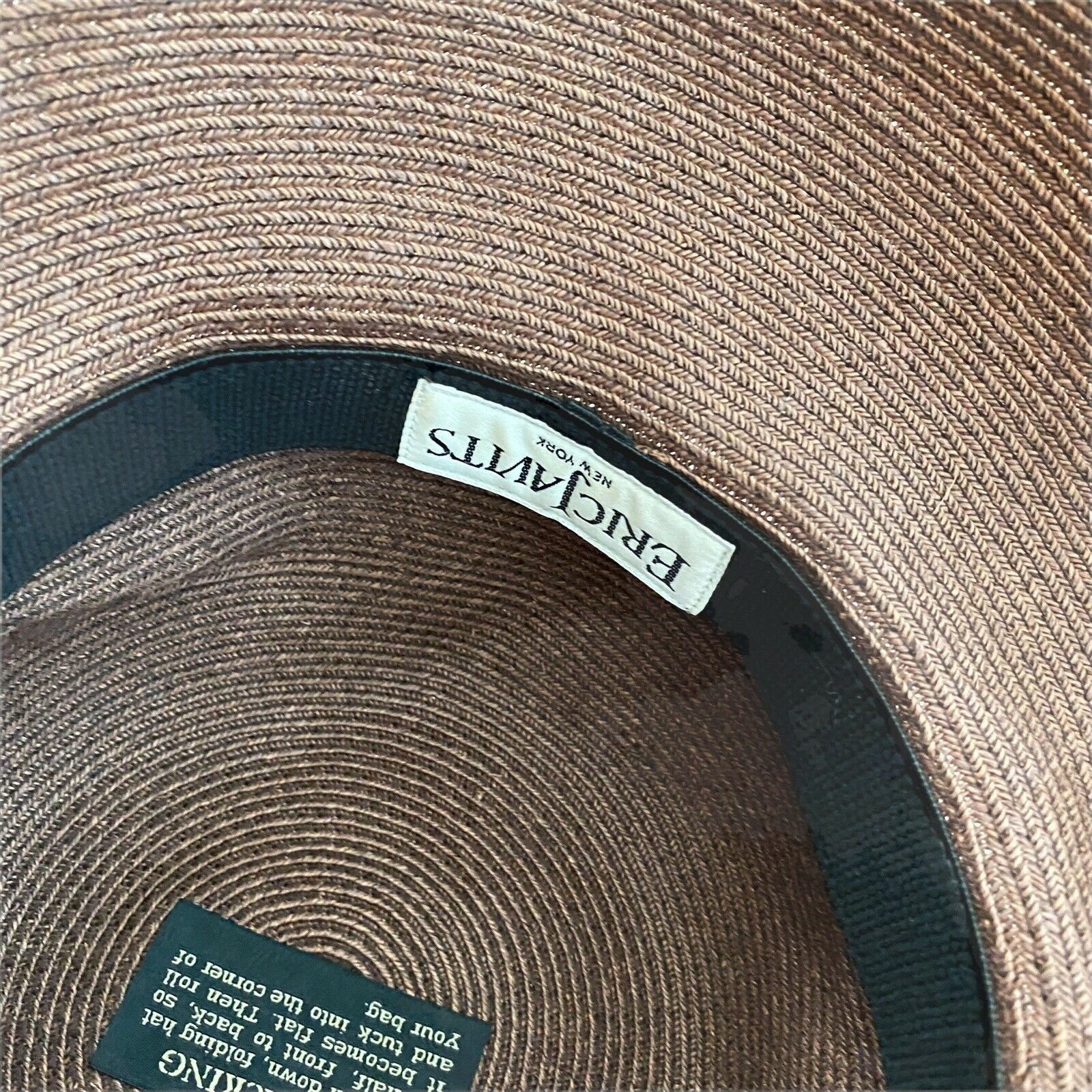 Eric Javits Squishee Packable Straw Hat Wide Brim… - image 8