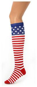 USA-American-America-Flag-4th-of-July-Patriotic-Red-White-Blue-Socks