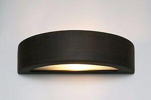 Ceramica applique da parete lampada luce pavimento omega marrone
