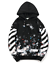 OFF WHITE fireworks print men/'s female Casual street long-sleeved hooded sweater
