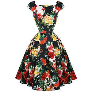 Hearts-amp-Roses-London-Sommer-Rosen-Blumen-Retro-1950s-Jahre-ausgestellt-Party