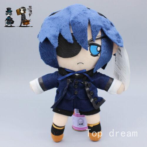 Anime Kuroshitsuji Black Butler Sebastian Michaelis Ciel Plush Toy Figure Doll