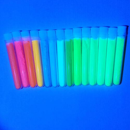 50g Lime GRÜN 280 LeuchtPulver leuchtet Leuchtfarben neon UV Licht Effekt Lack