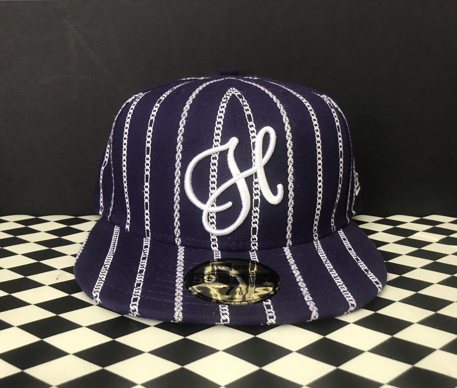 New Huf New Era 7 1 4 Fitted Hat supreme Purple Cuban Links Pinstripe  supreme Hat nike 8 9. 3956da c767f2ad00da1