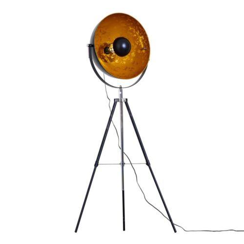 Design Film Strahler Schwarz Gold Schlaf Wohn Flur Büro Zimmer Stand Beleuchtung