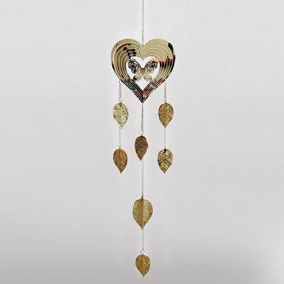 Flower /& Spiral Silver Metal Decor Hanging Home Garden Sun Catcher H72cm 24453