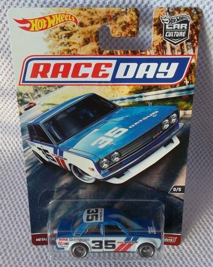 BRE Datsun bleubird 510 avec RR HOT WHEELS 2018 voiture culture Race Day RLC   TPN 10