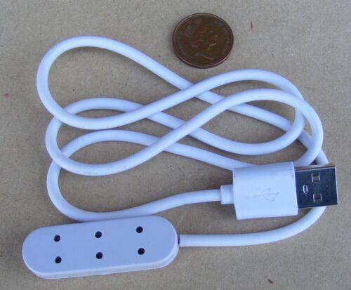 Escala 1:12 tira de un solo socket USB De Extensión Triple tumdee Casa De Muñecas Iluminación