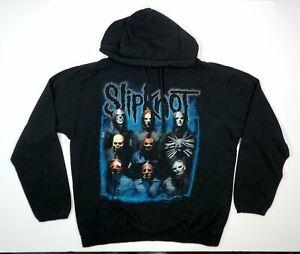 Slipknot Hoodie Black Blue Sweatshirt Men's Large Tour Merch Rare Style