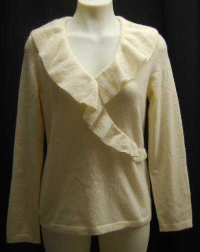 Sweater M Ikke lagers Ivory Cashmere på Ruffled 139 lager 2 100 Charter Club vRw800