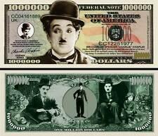 CHARLIE CHAPLIN CHARLOT - BILLET DE COLLECTION 1 MILLION DOLLAR US ! cinéma Muet