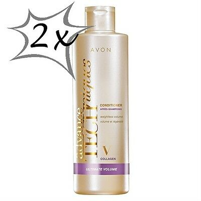 avon 2x Advance Techniques CONDITIONER Collagen Ultimate Volume 250ml NEW