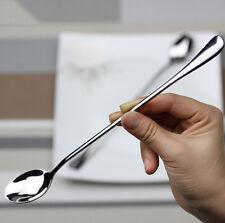 "6x 7.5"" Long Stainless Steel Ice Cream Cocktail Teaspoons Coffee Soup Tea Spoons"