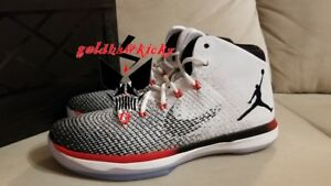 20ec264d03f91 Nike Air Jordan XXXI xxx1 31 Black Toe White Black Max Orange 845037 ...