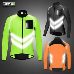 Mens-High-Visibility-Cyclings-Jacket-Windproof-Waterproof-Coat-Bike-Jerseys