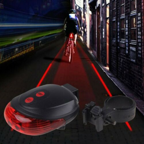 5LED+2Laser Cycling Safety Bicycle Rear Lamp Bike Laser Tail Light Warning Lamp