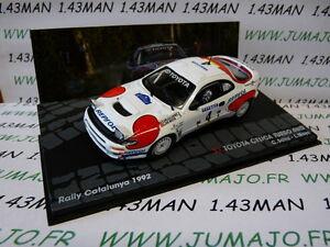 voiture-1-43-IXO-Altaya-rallye-TOYOTA-Celica-Turbo-4WD-Catalogne-1992-C-SAINZ