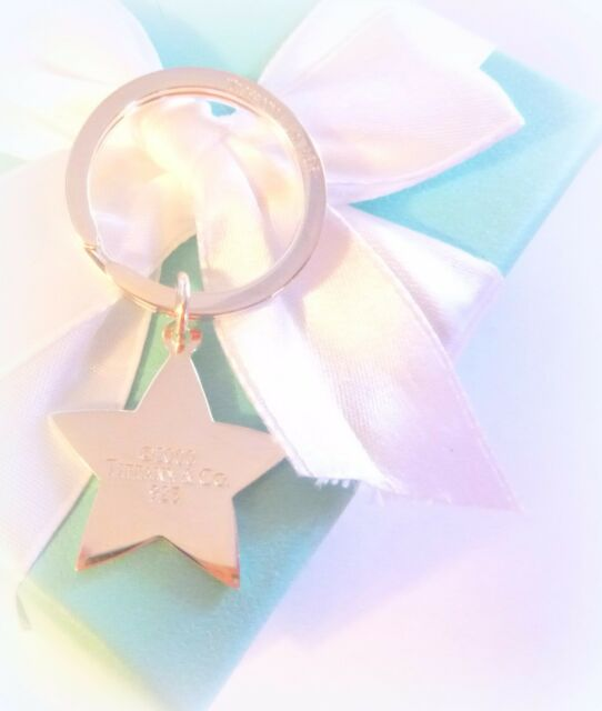 TIFFANY & CO STERLING SILVER 925 RETIRED c2000 STAR TRAVELER KEY CHAIN ESTATE