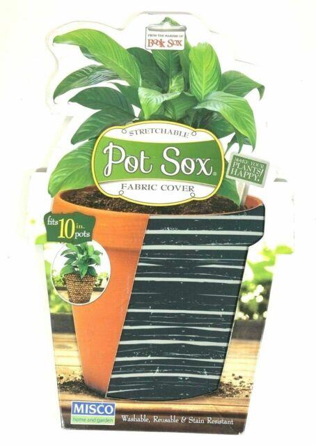 Misco Home and Garden Modern Pot Sox Flowerpot Cover 10-Inch Various Patterns