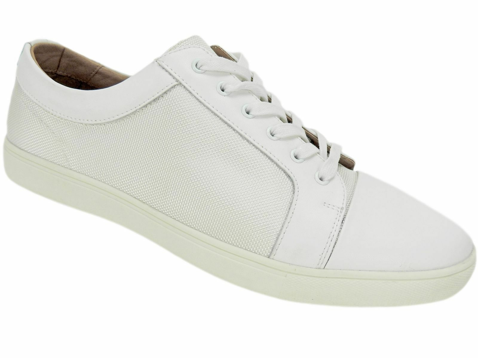 free shipping d723c 1f2ae Bar III Men s Men s Men s White Adrian Low Top Athletic Sneakers Size 10.5  M 1d57bc