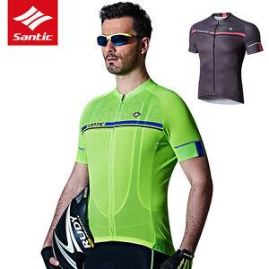 805385326 Santic Men MTB Short Sleeve Cycling Short Jersey Sleeve Cuff Road ...