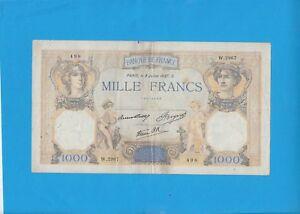 1000 Francs Cérès Et Mercure Du 8 Juillet 1937 W.2967 Icdf2lzo-07231129-251503305