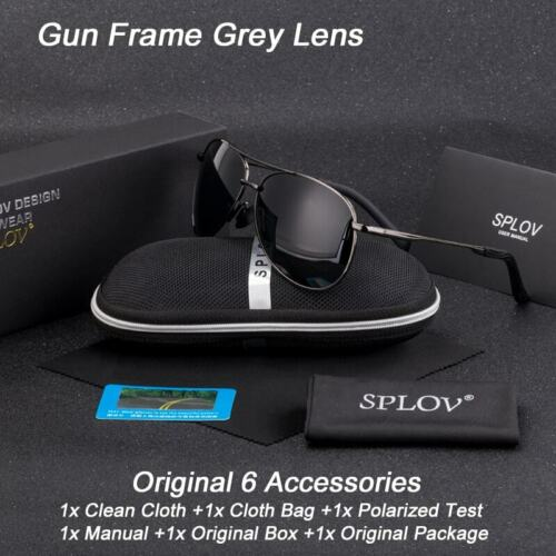 SPLOV Classic Fashion Pilot Driving Sunglasses Men Women Polarized Sun Glasse...